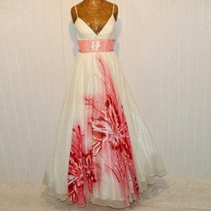 BLUSH PROM Floral Homecoming Wedding Ball Gown